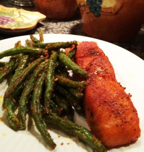 Salmon with Roasted Green Beans
