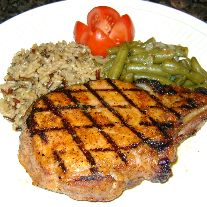 Double Thick Grilled Rib Pork Chops